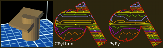 Comparison of CPython and PyPy fill patterns